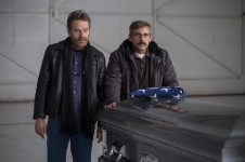 """Bryan Cranston as """"Sal"""" and Steve Carell as """"Doc"""" in LAST FLAG FLYING."""