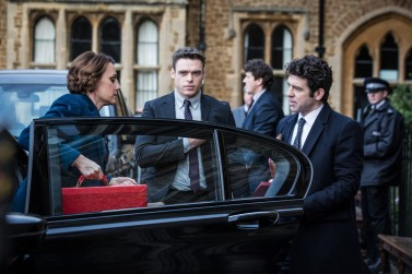 Programme Name: Bodyguard - TX: n/a - Episode: n/a (No. Ep 1) - Picture Shows: Julia Montague (KEELEY HAWES), David Budd (RICHARD MADDEN), Rob MacDonald (PAUL READY) - (C) World Productions - Photographer: Sophie Mutevelian