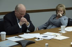 Christian Bale (left) as Dick Cheney and Amy Adams (right) as Lynne Cheney in Adam McKay's VICE, an Annapurna Pictures release. Credit : Matt Kennedy / Annapurna Pictures 2018 © Annapurna Pictures, LLC. All Rights Reserved.